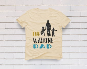 The walking dad svg, Fathers day svg, Dad svg, Father's day svg, Kids svg, The walking dead svg, Car decal, Cricut, Cameo, Svg, DXF, Png Eps