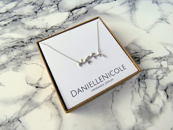 Dainty CZ Leaf Necklace, Dainty Vine Necklace, Pendant Necklace, Dainty Necklace, Dainty Jewelry, Everyday Jewelry, Simple Necklace, Boho