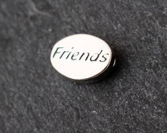 Sterling Silver Friends Bead