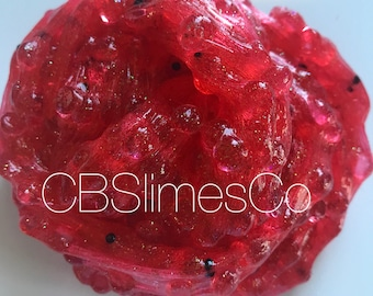 Watermelon Fishbowl Slime, Scented Slime, No Borax Slime!