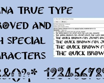 Moana Font  improved Version 2.1   True Type. To install and write