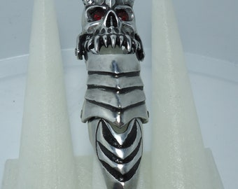 Silver Claw Ring - Finger Claws - Claw - Demon Ring - Demon Jewelry - Metal Claw Ring - Finger Armor - Vampire Jewelry - Satanic Ring - Seth