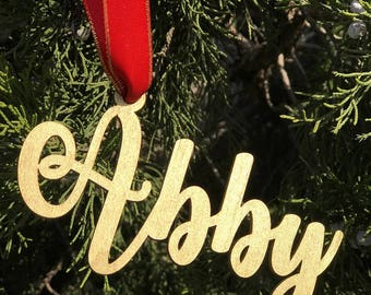 Personalized Christmas Ornament ,Name Ornament,Gold,Silver