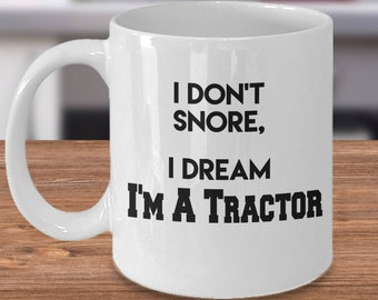 Tractor Gift for Him, Tractor Gift Idea, Tractor Drinkware, Tractor Gift Present, Dad Tractor Gift, Tractor Coffee Cup, Farming Gifts Funny