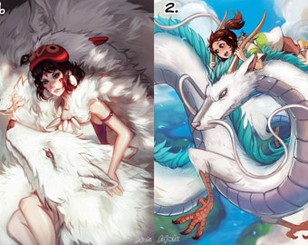 Princess Mononoke and Spirited Away A6 Postcard