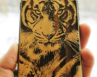Tiger - Wood Case