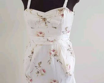 WILFRED Cream Floral Pocket Dress with Removal Straps
