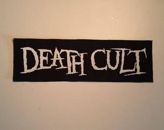 Death cult logo LONG patch white logo goth rock deathrock post punk