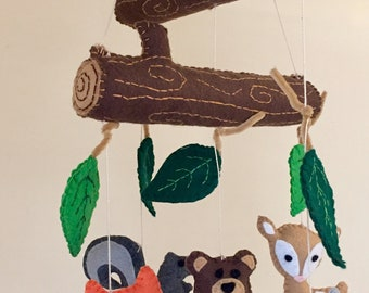 Woodland Animals Baby Mobile/Crib Mobile