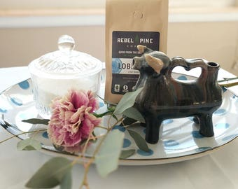 Glazed Ceramic Cow Creamer