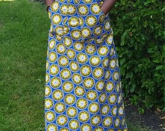 African embellished A~line skirt