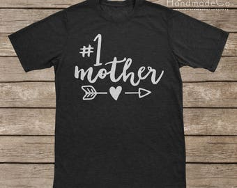 Number 1 Mother T-shirt Transfer/Iron On Vinyl/Iron On Decal/Iron On Sheet/DIY Iron On Transfer/T-shirt Iron On Transfer