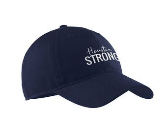 HOUSTON STRONG Embroidered Baseball Caps for All Ages, Toddler and Childrens Caps, Dad Hat, Unstructured Hat, Texas Strong, #houstonstrong