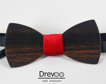 Bow tie wood, tie a butterfly