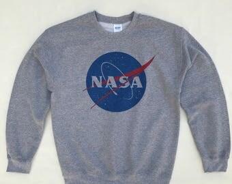 NASA Sweatshirt Grey - S, M, L, XL