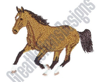 Small Bay Horse - Machine Embroidery Design
