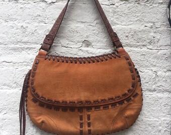 Suede Southwest Shoulder Bag   Women's Vintage Accessory