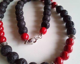 Lava Stone necklace.