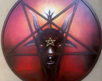 Baphomet - Pentagram Painting