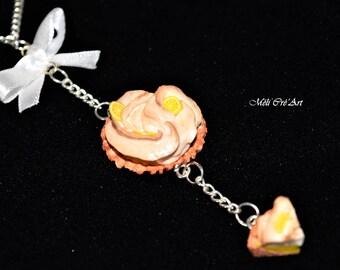 Necklace gourmet cake tart lemon meringue