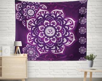 Mandala wall tapestry,Mandala wall hanging,Wall decor tapestry,Bohemian tapestry,Boho Tapestry,Ethnic Mandala wall tapestry,Purple Tapestry