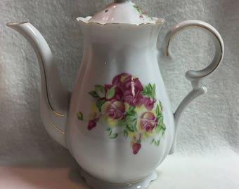 Royal Sealy Tall Rose Teapot (#009)