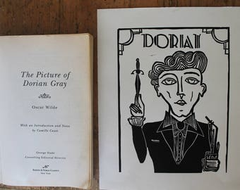 Dorian Gray 8x10 Linocut