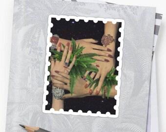 Unity Sticker, Unity Decal, Friendship Sticker, Friendship Decal, Plant Sticker, Plant Decal, Vintage Stickers, Vintage Decals