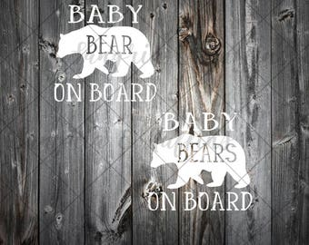 Baby Bear On Board, Baby Bears On Board decal, car/window/decal, kids on board decal, car decal, kids in car decal, van decal, SUV decal