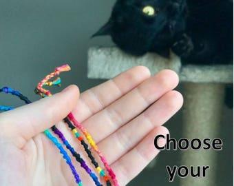 Custom Spiral String Friendship Bracelets!