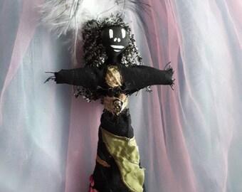 Voodoo Doll lovely authentic art doll Handmade New Orleans Inspired Love Vodou Multi coloured Good Luck Poppet Art Doll