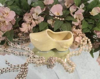 Dutch Clog bright Yellow Shoe Planter
