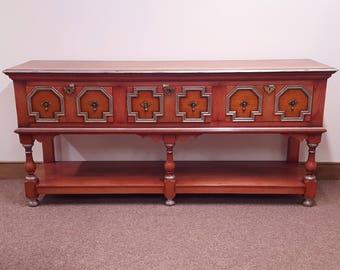 Jacobean Style Handmade Solid Oak Sideboard