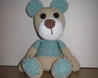 Amigurumi, Crochet Toy, Soft Toy, Stuffed Animal, Teddy Bear - Chester