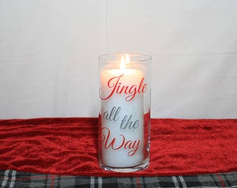 Jingle All The Way, Christmas Candles, Christmas Centerpiece, Christmas Decorations, Holiday Decorations, Holiday Decor, Christmas Decor