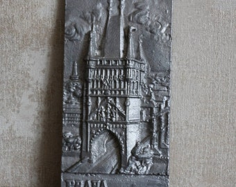 Painting  bas-relief, Prague, Poland, Catholics, old Poland, castle in Poland