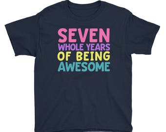 Seventh Birthday Party Shirt - Seven 7 Year Old Shirt for Girls - Birthday Shirt for Girls 7 - Birthday Girl Shirt 7 Seventh Birthday Gift S