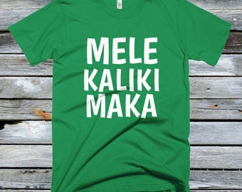 Fitted Mele Kalikimaka Shirt - Christmas in Hawaii Shirts - Hawaiian Christmas Shirts