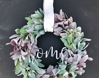 Home Lamb's Ear Wreath