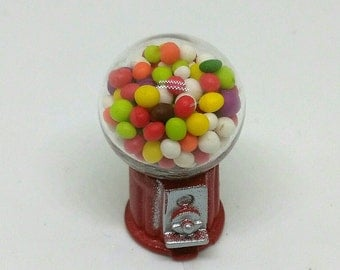 DISCOUNT 30% Gumball Miniature Dollhouse, Gumball Machine