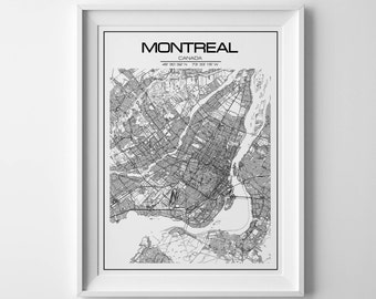 montreal map, city map, montreal print, montreal, montreal canada, map of montreal, montreal, montreal map print, map art, montreal quebec
