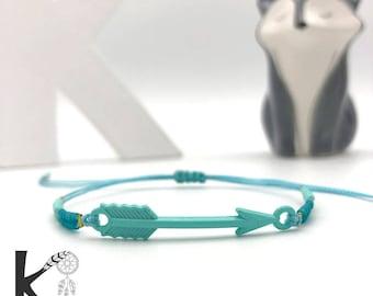 Mint green arrow bracelet