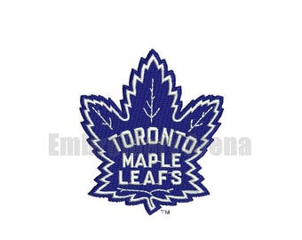 Hockey embroidery design - (Toronto Maple Leafs) - instant DOWNLOAD digital file