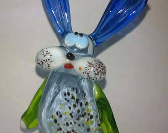 Glass figurine: Hare with long ears