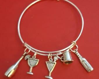 Bartender Themed Charm Bracelet