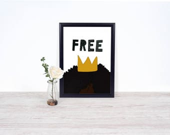 Free Fro Wall Art