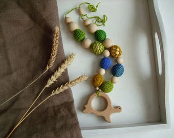 Teething necklace Mother necklace Breastfeeding necklace  Mommy necklace New baby Sea turtle Teething toy Nursing necklace Wood toy Baby toy