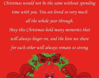 Great Grandma & Great Grandad Christmas Card