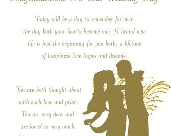 Grandson & Granddaughter in Law Wedding Card