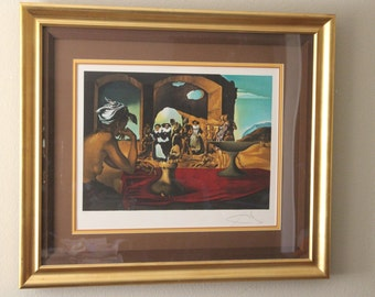 """Rare Salvador Dali Lithograph""""The Slave Market""""1981 #75/300 signed by Dali"""